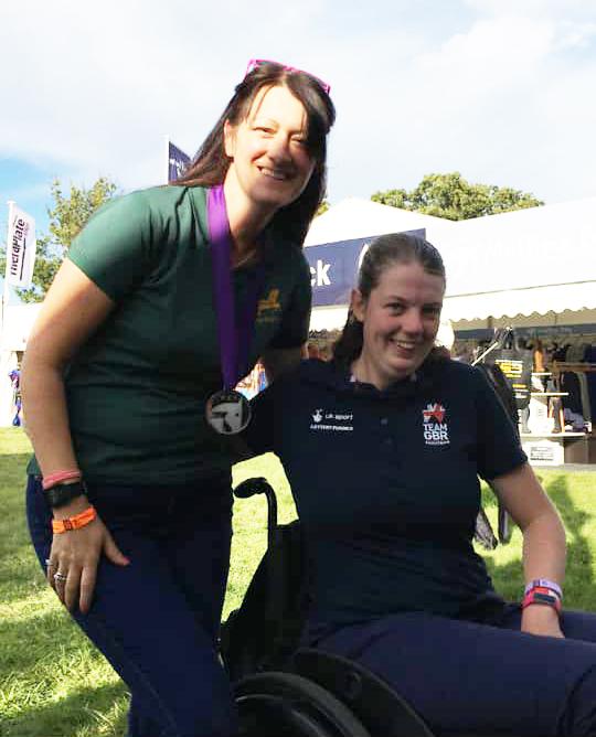 Mari Durward-Akhurst with Gail Johnson from Neue Schule stockist, Horse Bit Hire